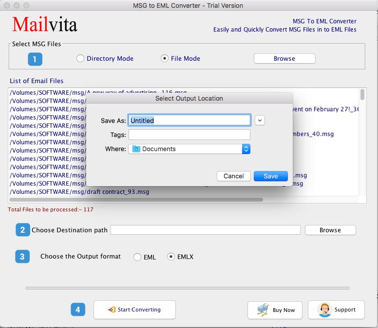 Mac에서 Msg 파일을 Eml 파일 형식으로 대량 변환하는 방법은 무엇입니까?