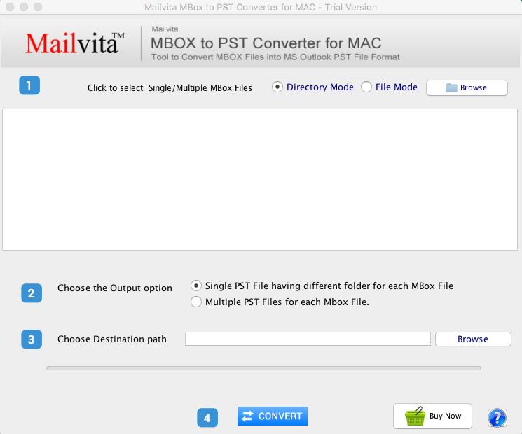 Szybko Przenieś Pliki Mbox Do Formatu Pst